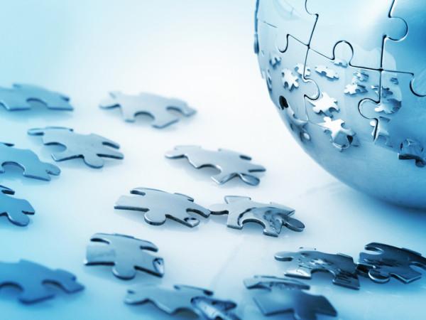 Puzzle, Global Communications, Globe.